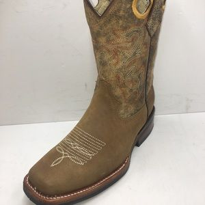 MEN'S RODEO COWBOY BOOTS GENUINE LEATHER BOOTS